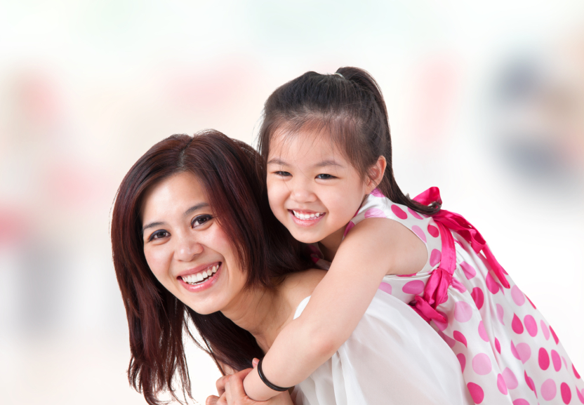 Korean mother and child